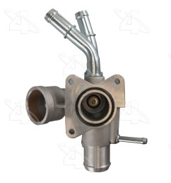 2010 lincoln mkx engine coolant thermostat housing [ 1500 x 1500 Pixel ]