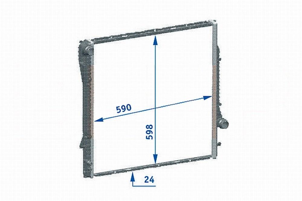 medium resolution of 2002 bmw x5 radiator hl 376718771