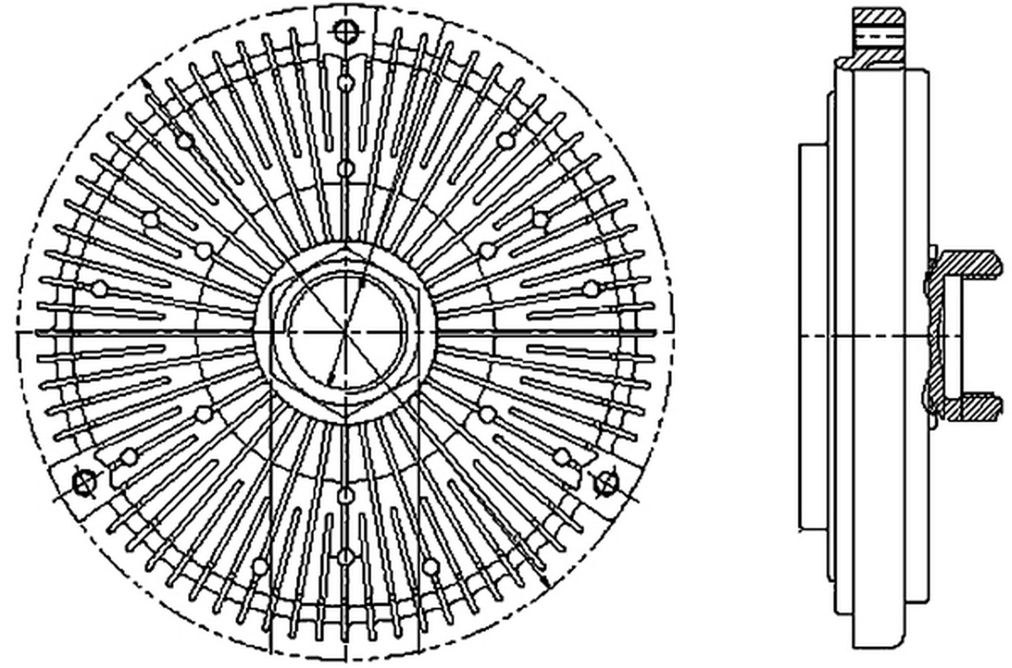 hight resolution of 1999 mercedes benz ml320 engine cooling fan clutch hl 376731491