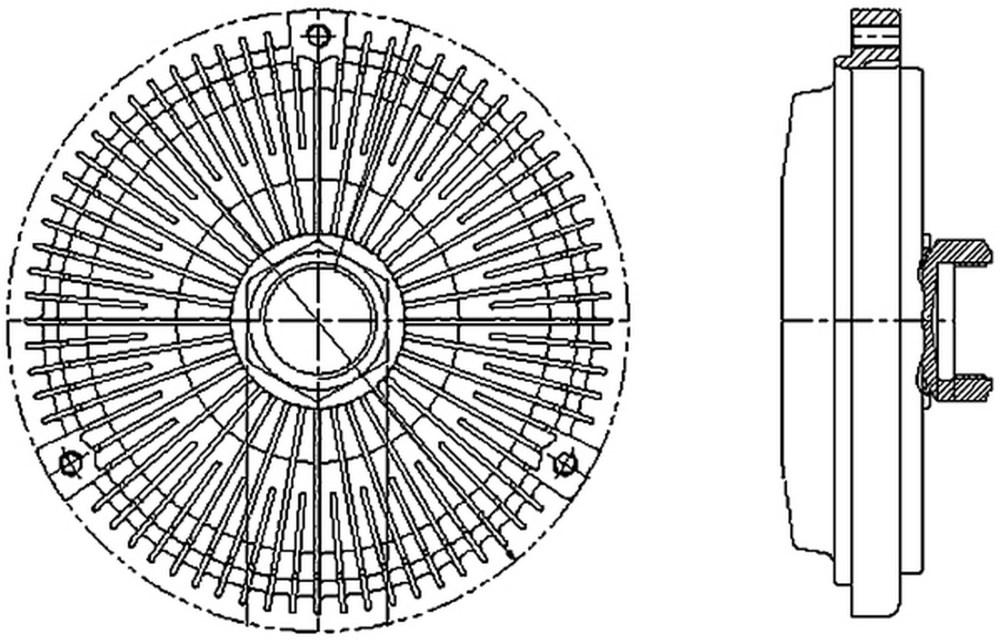 medium resolution of 1995 mercedes benz c220 engine cooling fan clutch hl 376733011