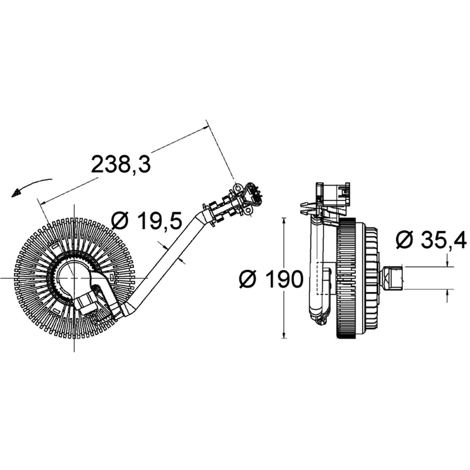hight resolution of 2006 gmc envoy engine cooling fan clutch hl 376734021