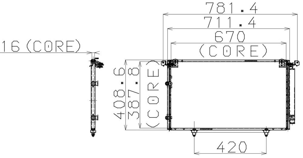 medium resolution of 2002 lexus es300 a c condenser np 477 0506