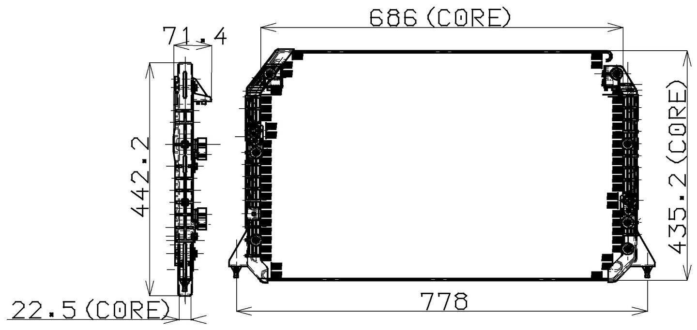 hight resolution of 1995 lexus es300 a c condenser np 477 0507