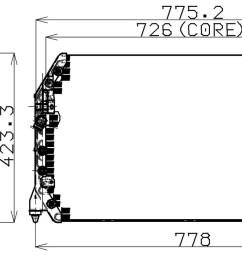 1997 lexus es300 a c condenser np 477 0510 [ 1440 x 709 Pixel ]