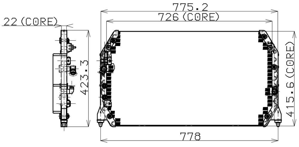 medium resolution of 1997 lexus es300 a c condenser np 477 0510