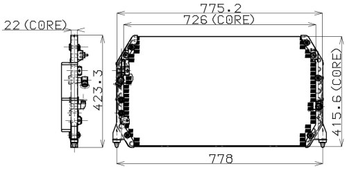 small resolution of 1997 lexus es300 a c condenser np 477 0510