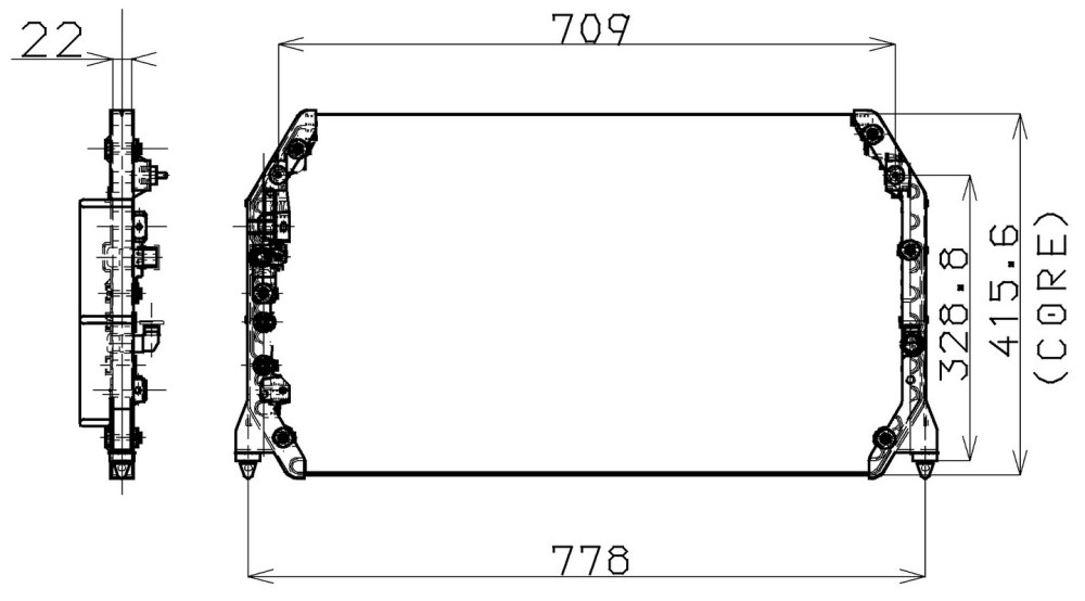 medium resolution of 1999 lexus es300 a c condenser np 477 0513