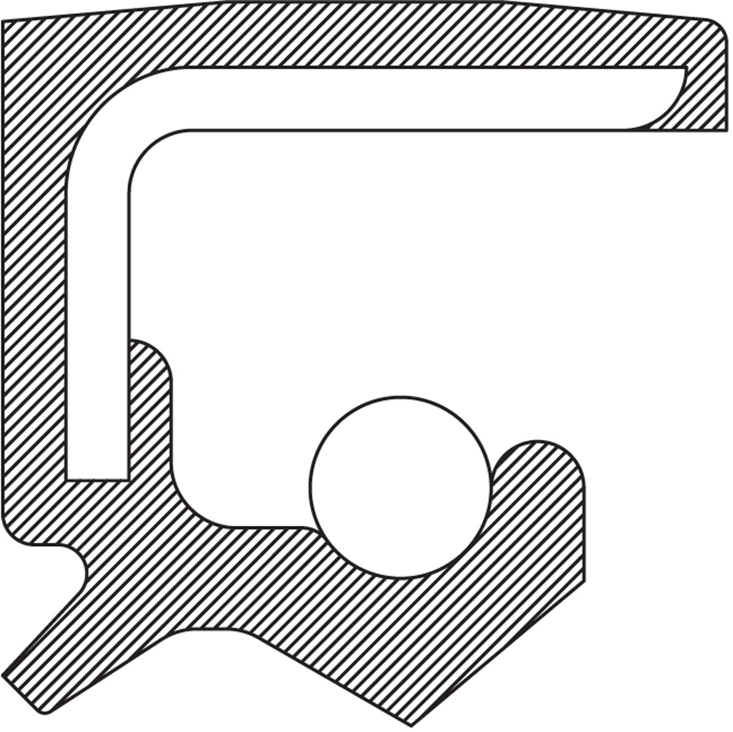National bearing manual transmission output shaft seal