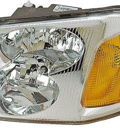 2006 gmc envoy headlight assembly rb 1590144 [ 1500 x 974 Pixel ]