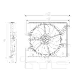 2012 nissan versa dual radiator and condenser fan assembly ty 622770 [ 1500 x 1500 Pixel ]