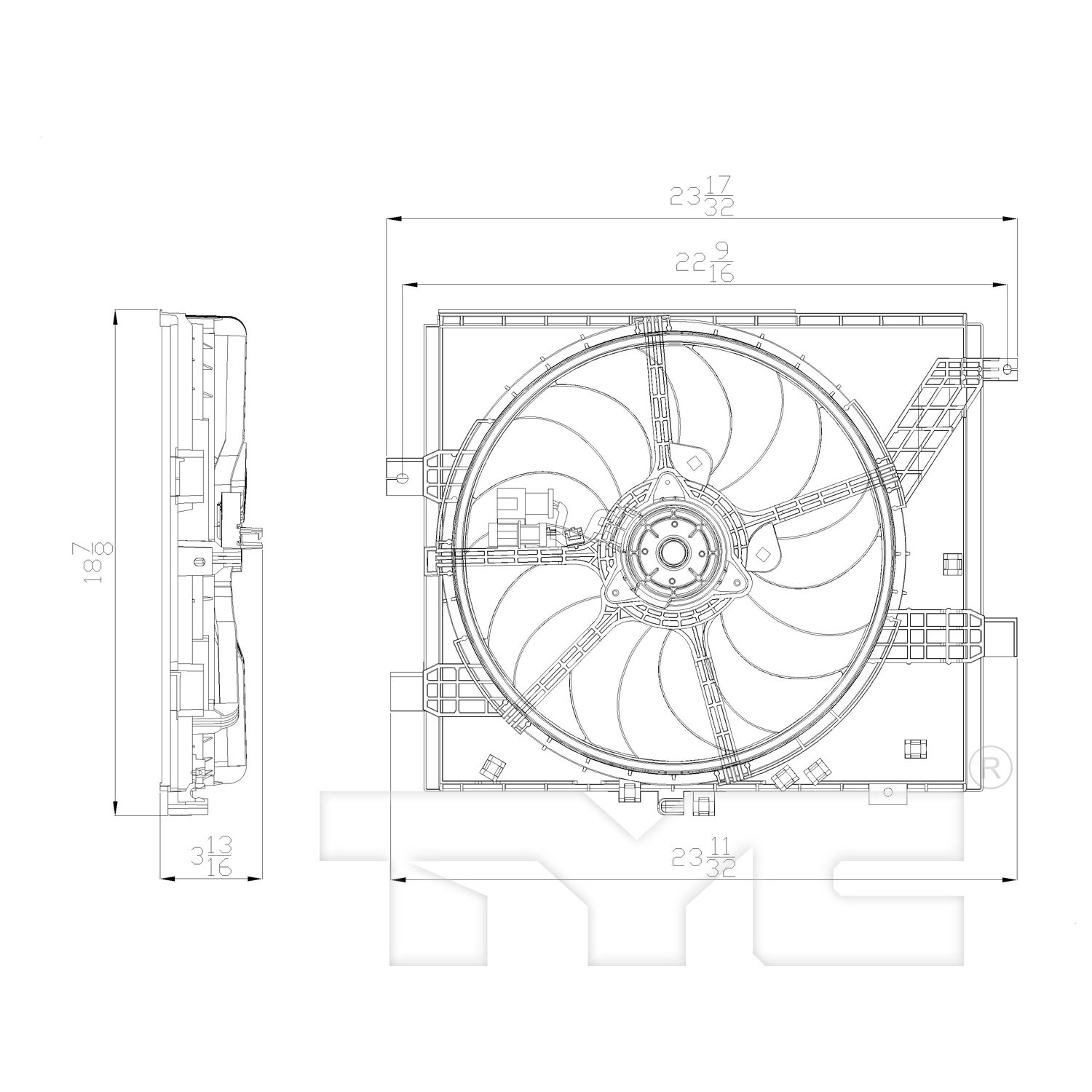 hight resolution of 2012 nissan versa dual radiator and condenser fan assembly ty 622770