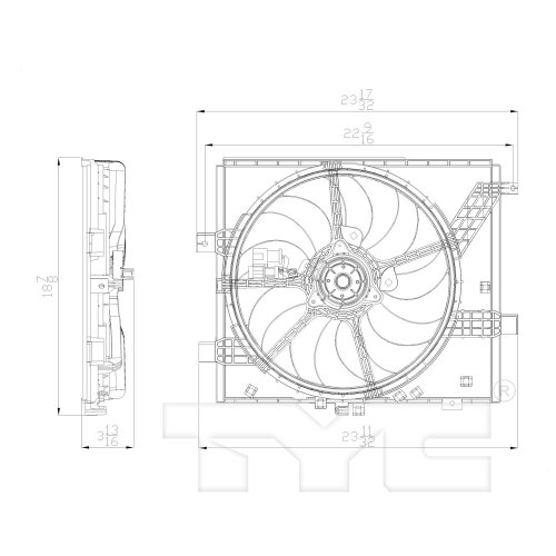 small resolution of 2012 nissan versa dual radiator and condenser fan assembly ty 622770