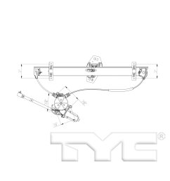 2003 acura mdx power window motor and regulator assembly ty 660554  [ 1500 x 1500 Pixel ]