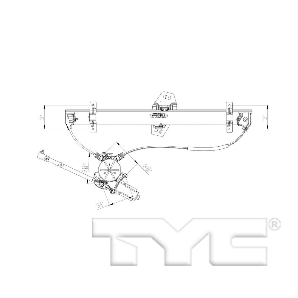 medium resolution of 2003 acura mdx power window motor and regulator assembly ty 660554