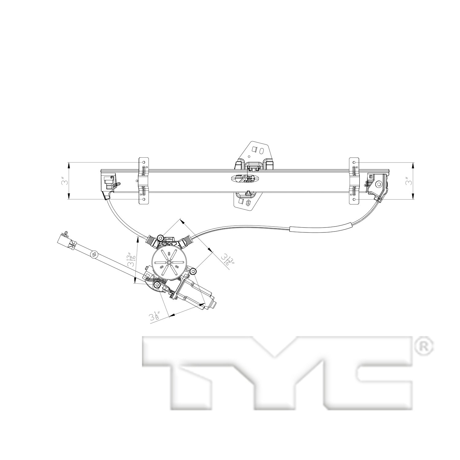 hight resolution of 2003 acura mdx power window motor and regulator assembly ty 660554