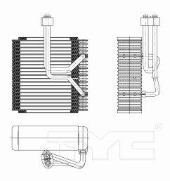 2002 kia sedona a c evaporator core ty 97257  [ 1500 x 1500 Pixel ]