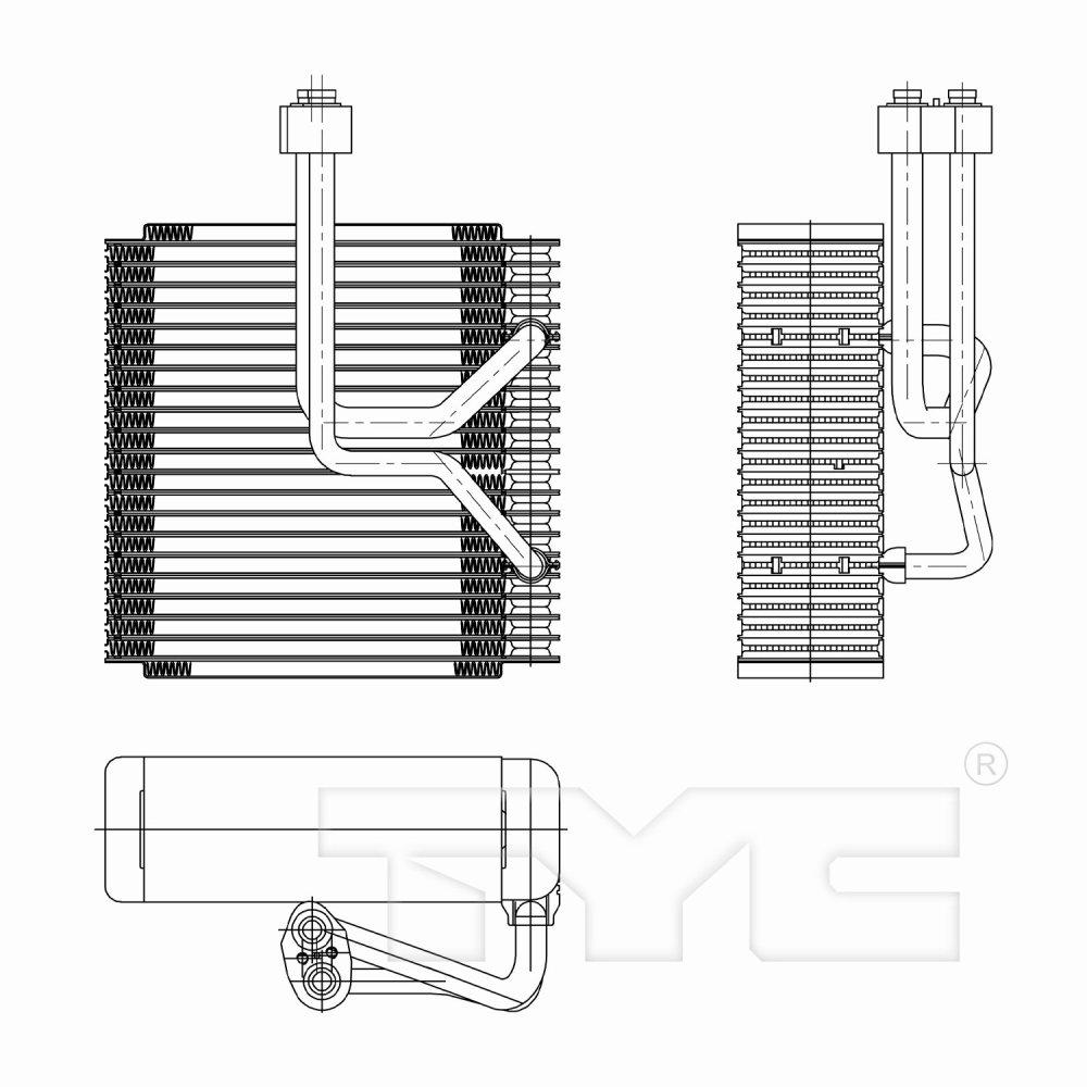 medium resolution of  2002 kia sedona a c evaporator core ty 97257