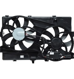 2008 lincoln mkx dual radiator and condenser fan assembly uc fa 50283c [ 1500 x 1500 Pixel ]