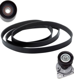 2010 ford focus serpentine belt drive component kit zo ack060874 [ 1500 x 1500 Pixel ]
