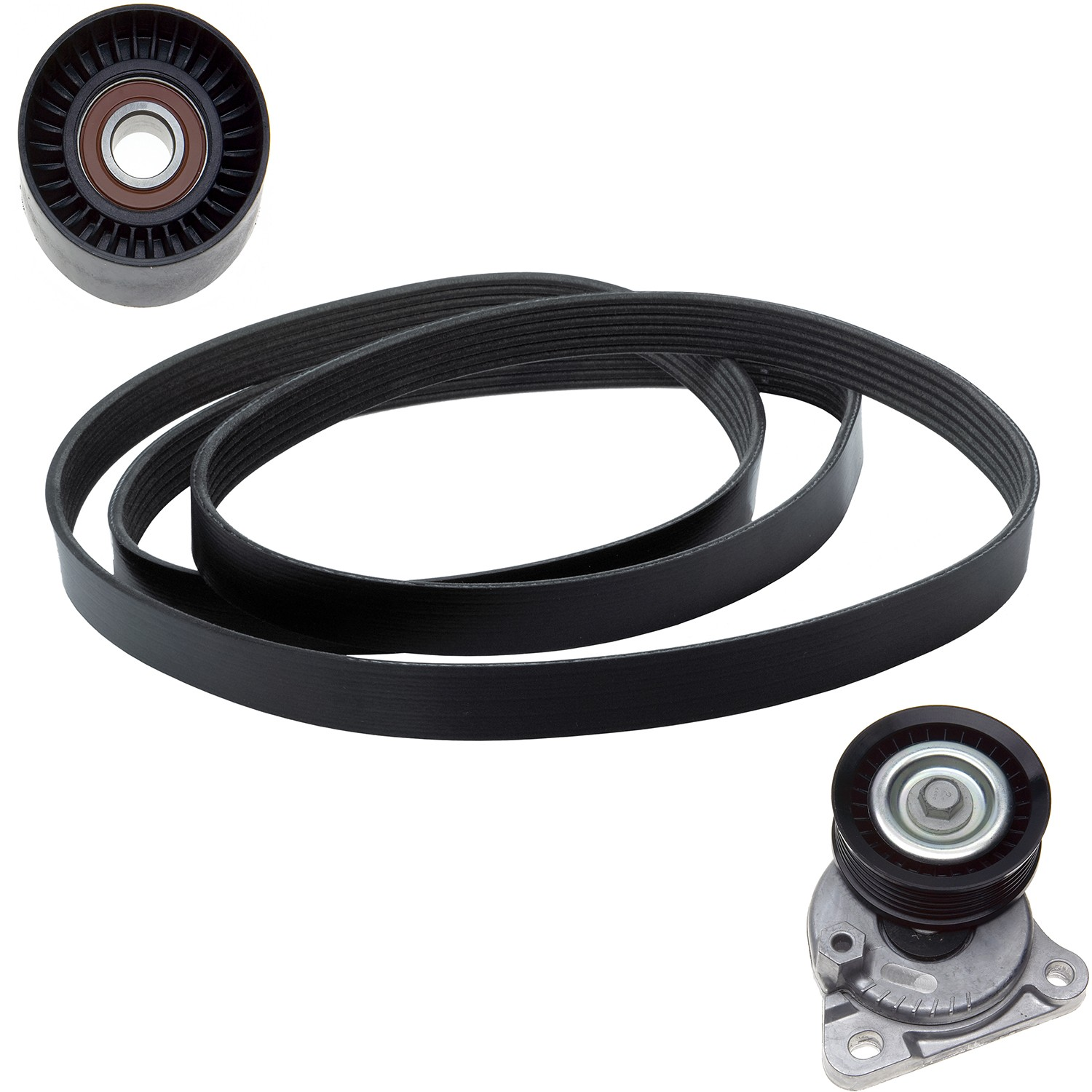 hight resolution of 2010 ford focus serpentine belt drive component kit zo ack060874