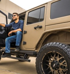 tan jeep wrangler jk with actiontrac power running boards  [ 1250 x 833 Pixel ]