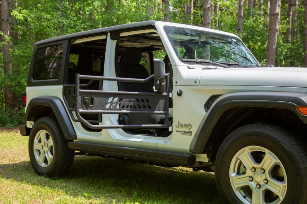 medium resolution of  aries jeep wrangler jl doors on a white jeep jl