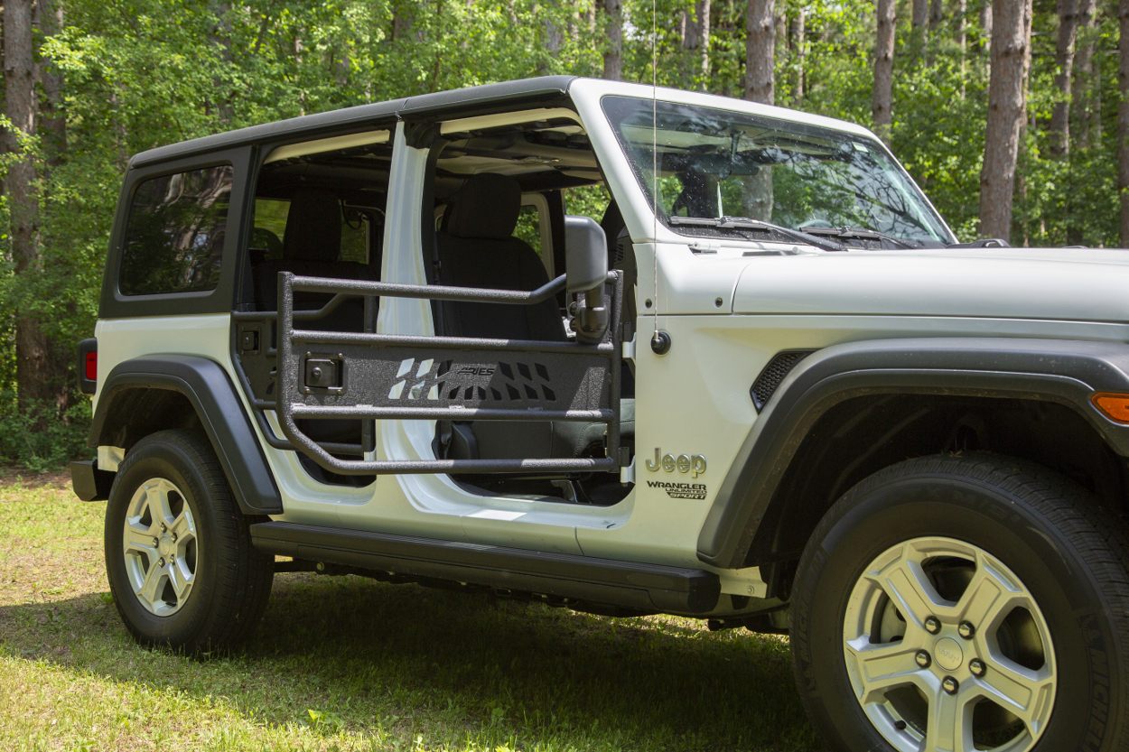 hight resolution of  aries jeep wrangler jl doors on a white jeep jl