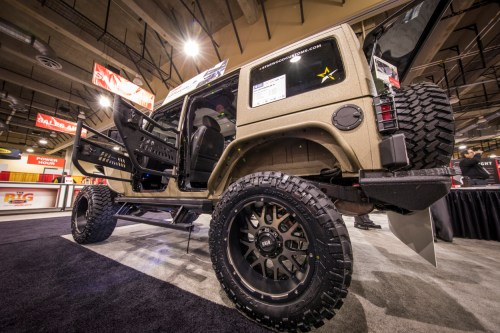 small resolution of  custom desert jeep wrangler jk unlimited with aries jeep doors