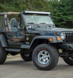 jeep wrangler tj with aries jeep doors trailcrusher bumper and led lights  [ 1250 x 833 Pixel ]
