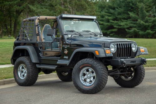 small resolution of  jeep wrangler tj with aries jeep doors trailcrusher bumper and led lights
