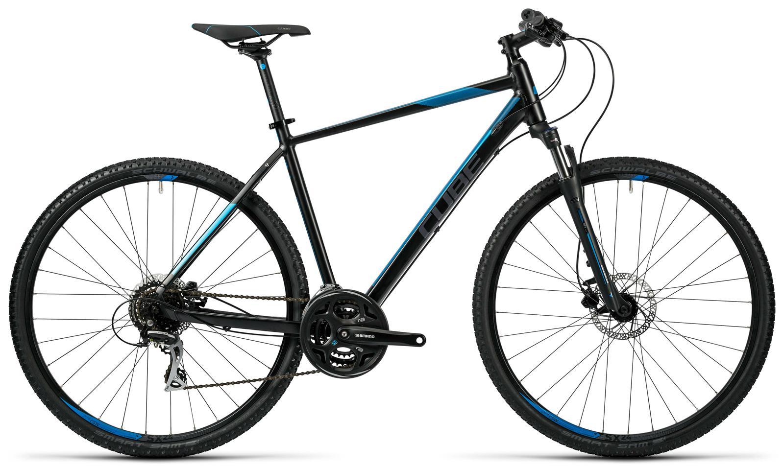 Cube Curve Pro black grey blue Trekkingräder Crossrad