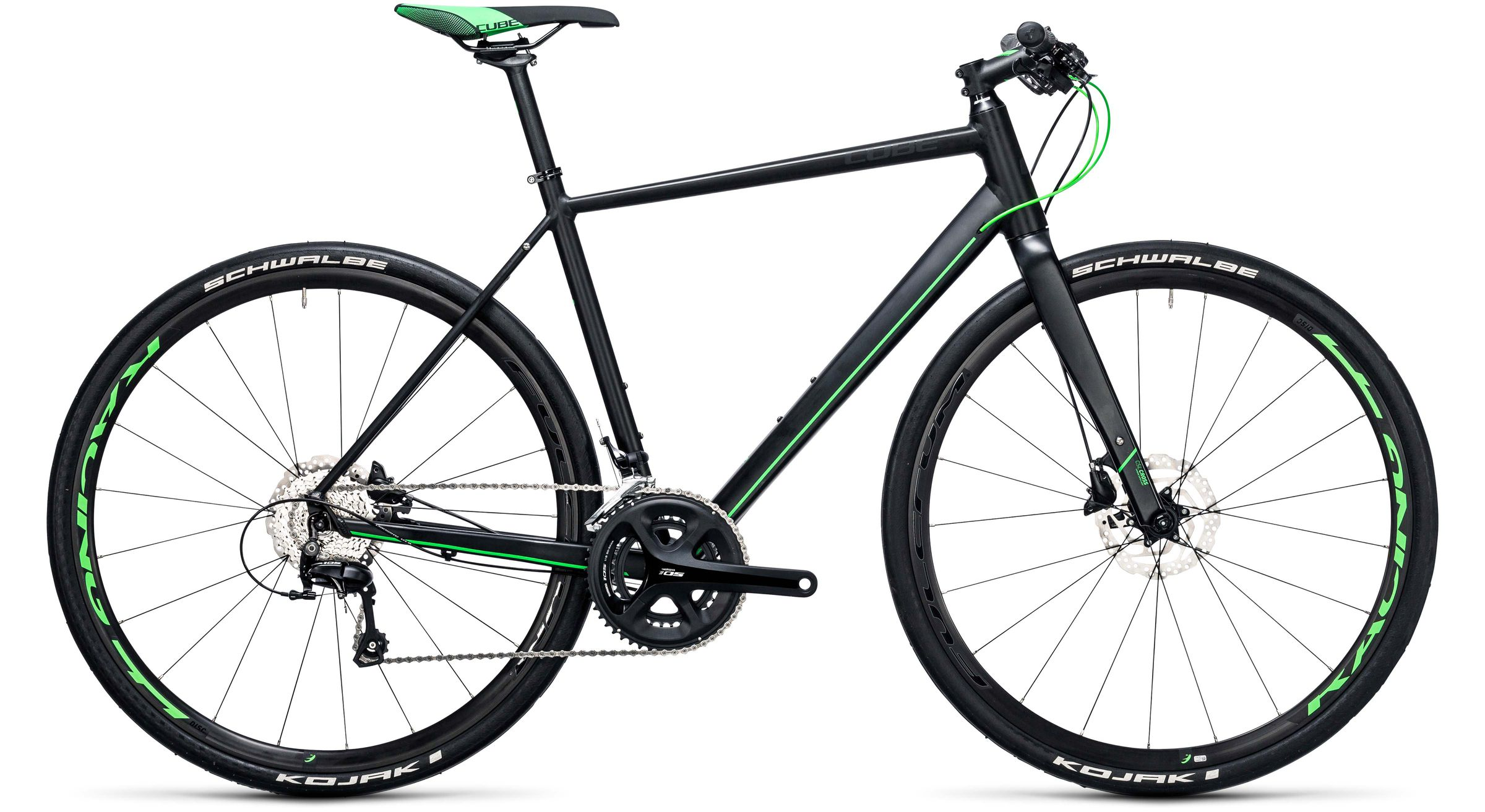 Cube SL Road Race black n flashgreen Trekkingräder