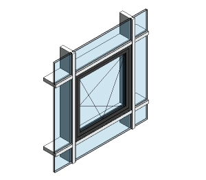 Revit operable window curtain wall for Operable awning windows