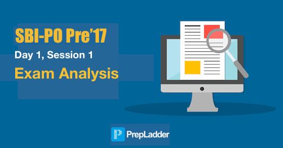 Sbipo Pre'17 Exam Analysis (slot 1