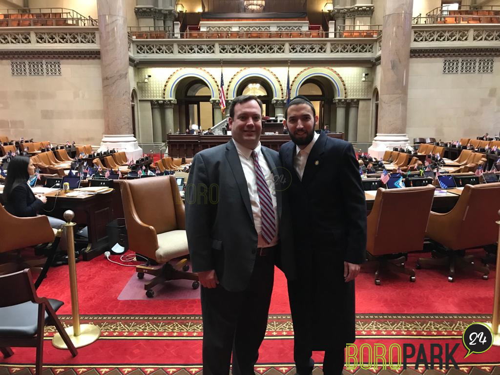 Rabbi Mendy Mirocznik President of Council of Jewish Organizations of Staten Island Conducts the Assembly Session Invocation