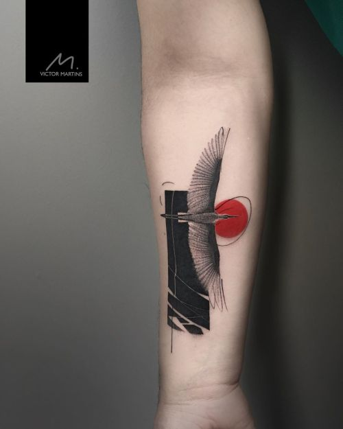 Wing bird tattoo by Victor Martins