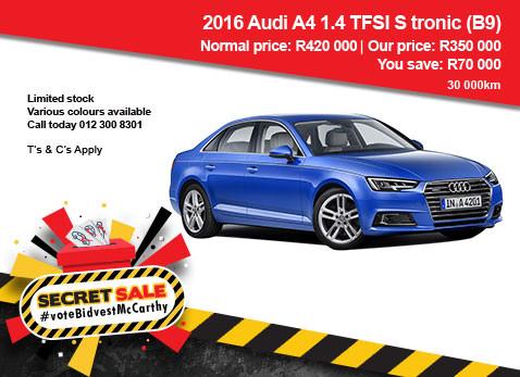 2016 Audi A4 1.4 TFSi S-Tronic - SAVE R70 000