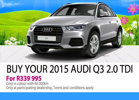 Buy your 2015 Audi Q3 2.0 TDi for R339 995