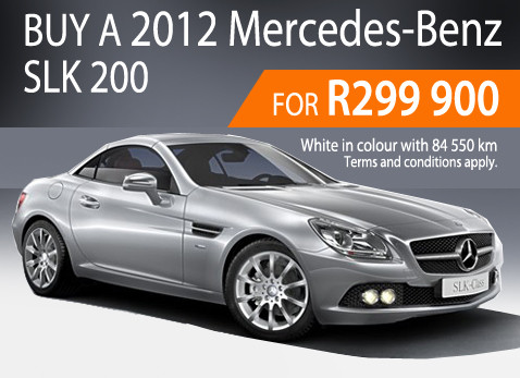 2013 Mercedes Benz SLK 200 - Only R299 900