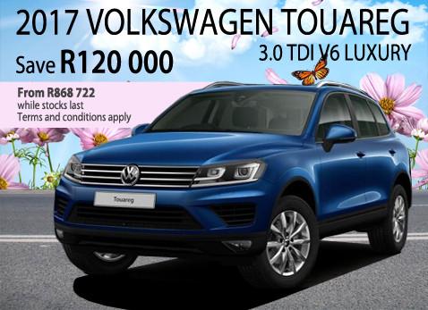 2017 Volkswagen Toureg 3.0 TDi V6 Luxury - Save R120 000