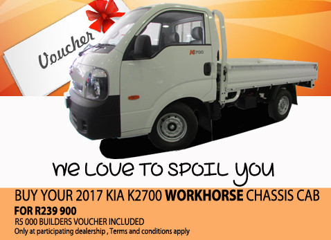 2017 Kia K2700 Workhorse Chassis Cab For R239 900