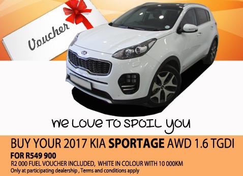 2017 Kia Sportage AWD 1.6 TGDI For R549 900