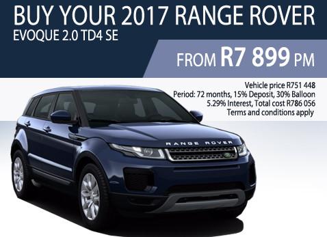 2017 Range Rover Evoque 2.0 TD4 SE - R751 448