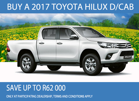 2017 Toyota Hilux Double Cab deal- Save R62 000
