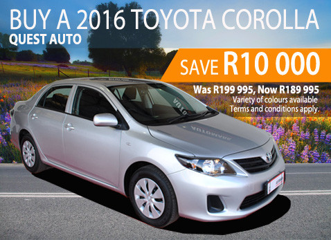 2016 Toyota Corolla Quest Auto - Save R10 000