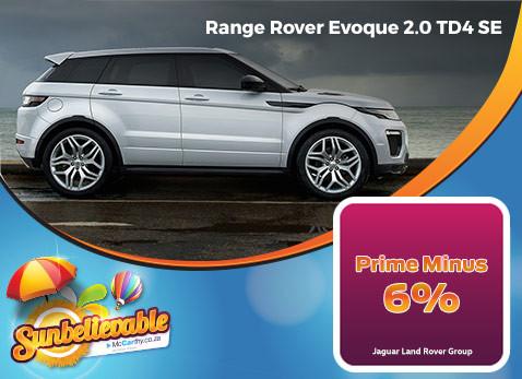 2017 RANGE ROVER EVOGUE 2.0 TD4 SE