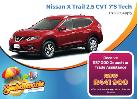 Nissan X-Trail Christmas Special - R37 000 Deposit or Trade assistance