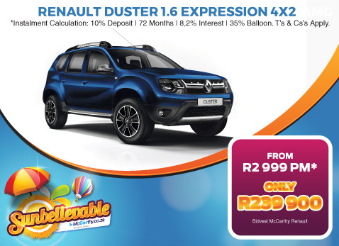 2017 RENAULT DUSTER 1.6 EXPRESSION 4X2 - Only R239 900