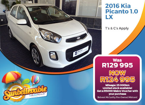 Special offer on 2016 Kia Picanto 1.0 LX