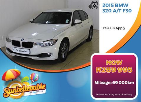 2015 BMW 320 A/T F30 - R289 995